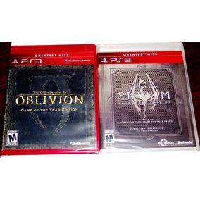 Lote 2 Vj The Elder Scrolls Iv Oblivion Y V Skyrim Ps3
