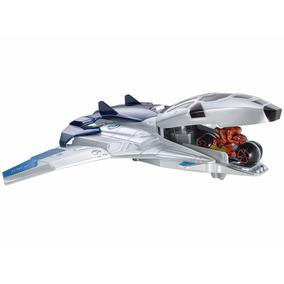 Avião Hot Whells Vingadores 2 Quinjet Moto Lançador Marvel