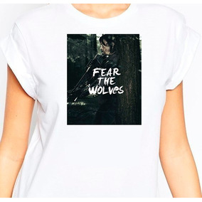 Remera Fear The Wolves !!the Walking Dead!! Modal!