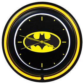 Relógio De Parede Dupla Neon Plástico E Vidro - Dc Comics