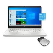 Notebook Hp Intel N5030 4gb 128gb Ssd 14 W10 + Mouse Regalo