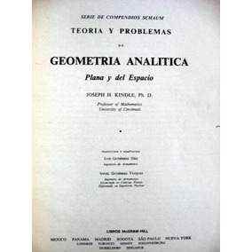 Geometria Analitica Plana Y Del Espacio- Joseph Kindle - Pdf