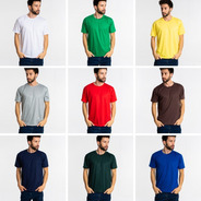 Kit 6 Camisetas Pv Malha Fria Poliéster Viscose Cores Sort.