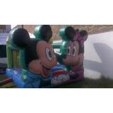 Castillo Inflable De Mickey Y Minnie 3x4 Con Rampa + Turbina
