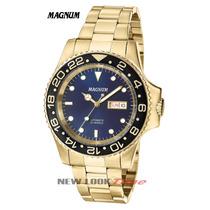 Relógio Magnum Automático Dourado Ma33844a