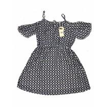 Lançamento Vestido Curto Manga Curto Ombro Vazado