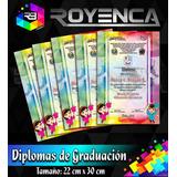 Diplomas De Graduación Escolar Reconocimientos Preescolar