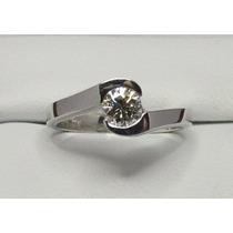 Anillo Compromiso 14k Diamante Natural .20 Puntos G Vvs2