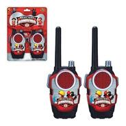 Walkie Talkie Infantil Bombeiro Rádio Comunicador