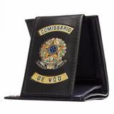 Carteira Porta Cédula (couro) - Comissário Brasão