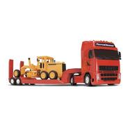 Caminhão Roma Diesel Brinquedo C/ Motoniveladora