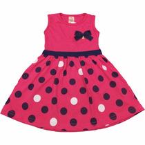 Vestido Infantil De Verão Modelo Regata Meninas 1 A 3 Anos