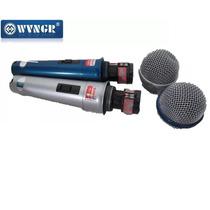 Par De Microfone Com Fio Profissional Wg 2008 Unidirecional
