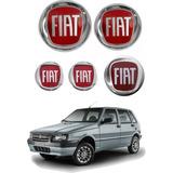 Kit Emblema Original Uno Fire Grade Tampa Chave Volante