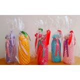 Botella Vidrio Recicladas Tejidas Crochet Souvenir Florero