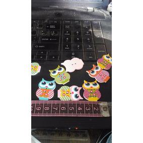 Botones Madera Buhos Flores Costura Tejido Scrapbooking 6pz