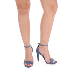 Sandália Salto Feminina Lara - Jeans