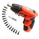 Destornillador Inalambrico Black & Decker 15 Accesorios 4.8v