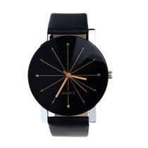 Relógio Pulso Luxo Quartzo Preto Promoção Frete Grátis