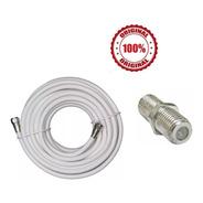 Cable Coaxial Rg-6 Tv Cable 5 Mts + Union Para Alargar
