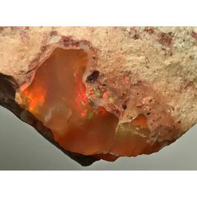 Ópalo De Fuego Mineral De Colección