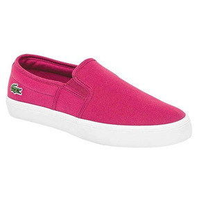 W67822 Bonitos Tenis Lacoste Casual Originales Color Fucsia