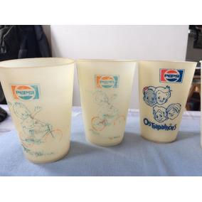 Lote 6 Copos Os Trapalhões Pepsi Antigo Vintage Coleção
