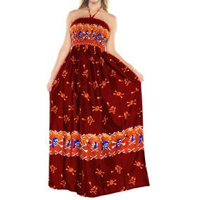 Vestido La Leela P/mujer, Cobertor Traje Baño, Cuello Halter