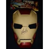 Mascara Autografo Firmada Stan Lee Iron Man Marvel Advengers