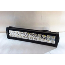 Barra Led Farol Auxiliar Milha 72w 12v 24 Led Off Road Jeep