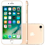 Iphone 7 32gb Dourado Apple - 4g, Ios 10, Mn902br/a