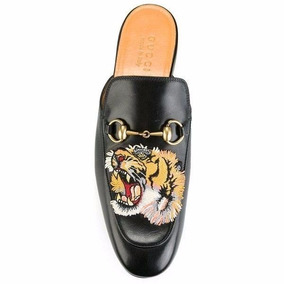 Sapato Sapatilha Mule Gucci Tigre Couro Legítimo