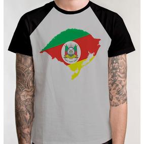Camiseta Raglan Rio Grande Do Sul Camisa Blusa Mapa Brasao