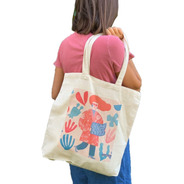 Bolso De Tela Canvas Estampado