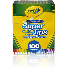 Canetinha Lavável Crayola Supertips 100 Cores - Frete Gratis