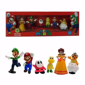 Kit Super Mario Bros 6 Miniatura Colecionável Presentear