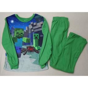 Pijama Térmica 2 Piezas Minecraft Talla 6-7
