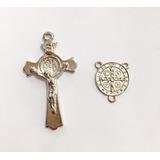 Peças P/ Confecção Terços - 100 Entremeios + 100 Crucifixos