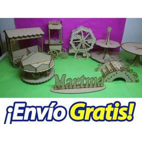 Combo Candy Bar 8 Productos Mdf Fibrofacil Somos Fabrica !!