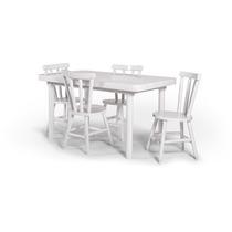 Jogo De Mesa Com 4 Cadeiras França Branco Diso Móveis