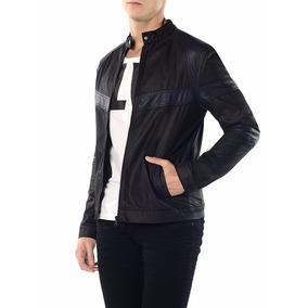 Jaqueta Bicolor Calvin Klein Jeans Com Recortes Preto