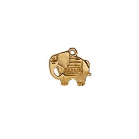 Dije Elefante Arabe Con Cadena Chapa De Oro 22 K