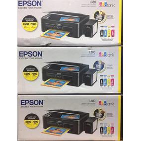 Epson L380 Con Sistema Original Copiadora Escanner Ahorro