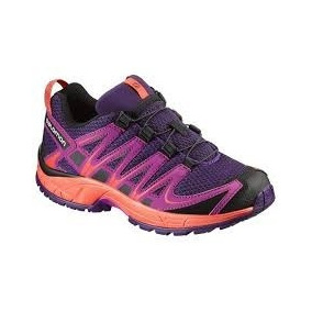 Zapatillas Trail Running Salomon Xa Pro Kids Envio Violeta