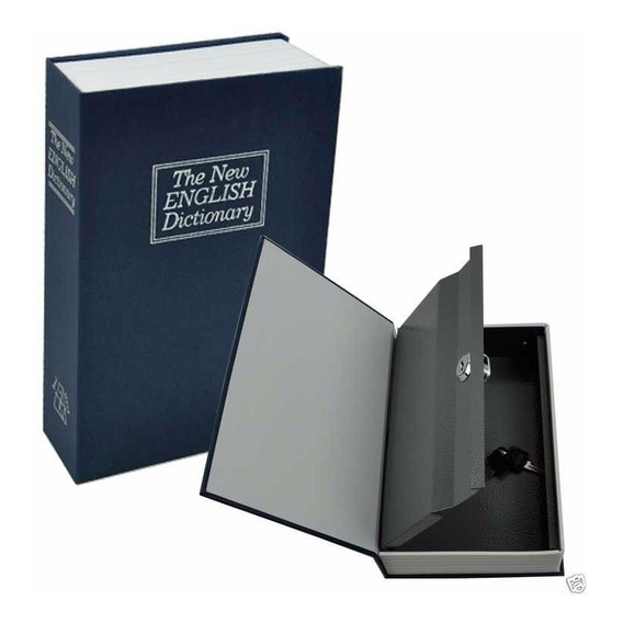 Caja Fuerte Simulando Libro Cofre Portavalores 260x200x65 Mm