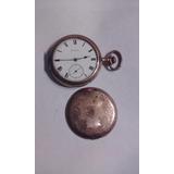 Antiguo Reloj De Bolsillo Elguin Caja Bañada En Oro