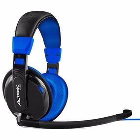 Audifonos Acteck Gamer Ag-900 Ajustables C/micro Azul