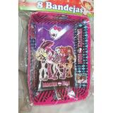 Tortera Monster High Pocoyo Princesa Sofia Paq. 8 Cotillon