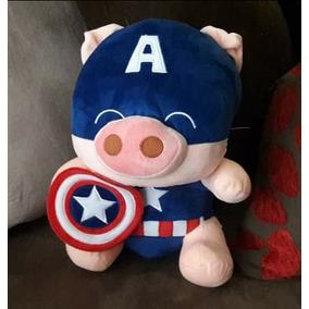 Peluche Importado Chancho Capitán América