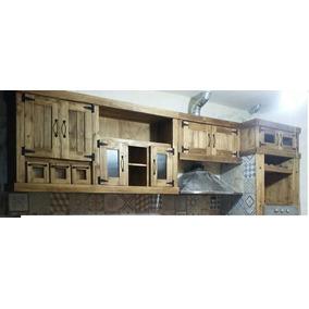 Alacena Bajo Mesada Muebles De Cocina Estilo Campo